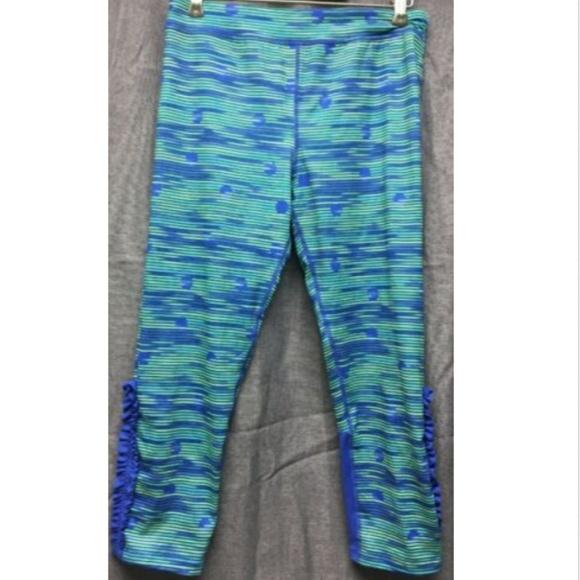 Champion Pants Jumpsuits New Leggings Blue Green Stripe Xl 1416 Poshmark